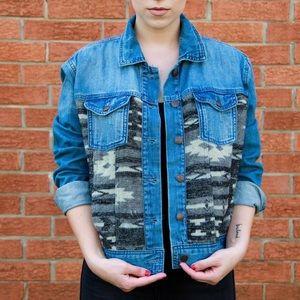 NWT Camo Denim Jacket