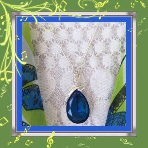  NWOT:  ROYAL BLUE TEARDROP PENDANT 