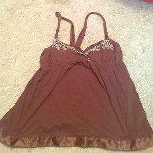 Blu chic Tops - Brown dress-up tank top