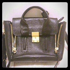 PHILLIP LIM Black Leather Mini Pashli