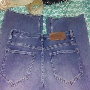 All Saints Button Flare Fit Blue Jeans size 28