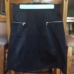 F21 Black Skirt with Silver Zips