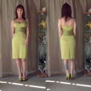 Badgley Mischka Dresses & Skirts - APPLE GREEN BADGLEY MISCHKA COCKTAIL DRESS