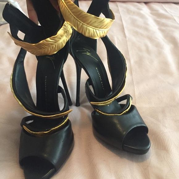 1ebaae931ebff Giuseppe Zanotti Shoes | Gold Leaf Sandals | Poshmark