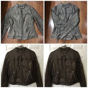 Jackets & Blazers - quilted moto jacket