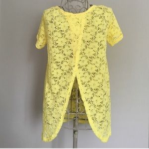 NWT Yellow Lace Top