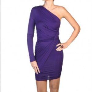 Tart purple one-sleeve dress