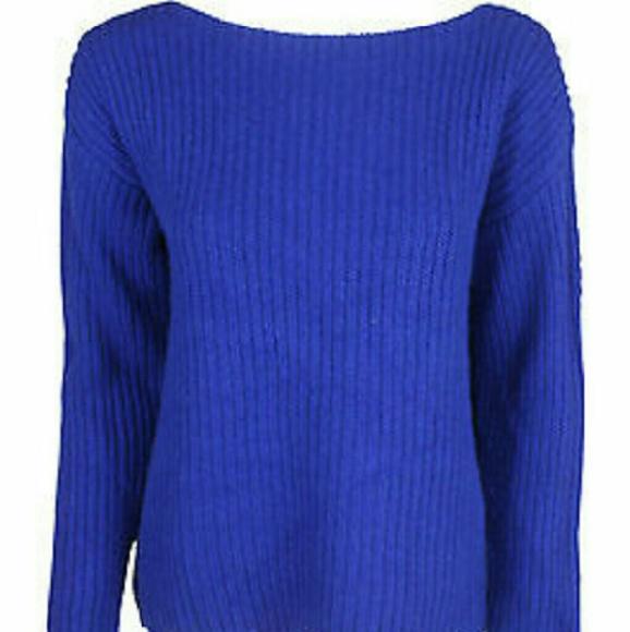 75% off Ralph Lauren Sweaters - Ralph Lauren royal blue oversized ...