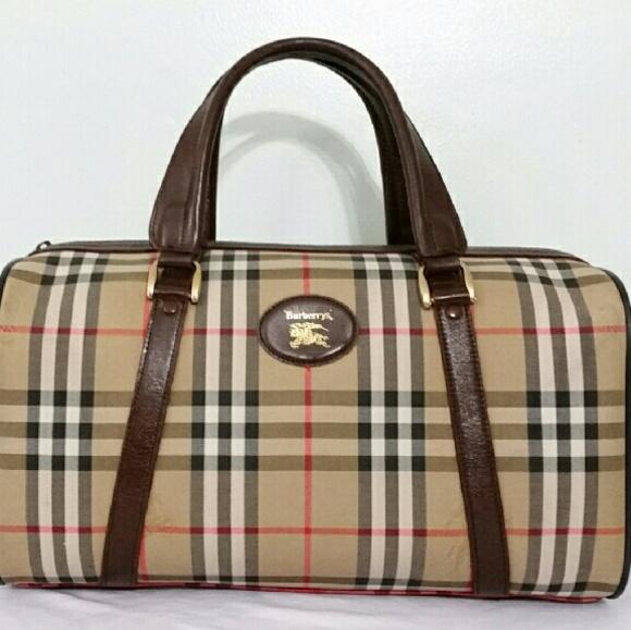 Burberry Handbags - Auth Large BURBERRY Nova Check Travel Bag 0400c7f8ca621
