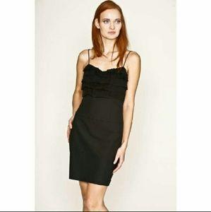 Black Halo Dresses & Skirts - Black Halo Cee Cee black silk navy dress