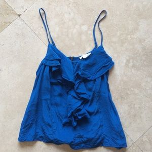 Blue Frilly Blouse