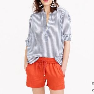 Jcrew linen drawstring shorts