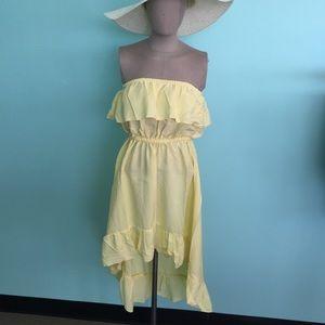 Boutique  Yellow Halter, Hi-Low Dress