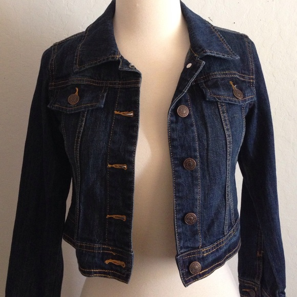 Cherokee Jackets Coats Girls Dark Denim Jacket Poshmark
