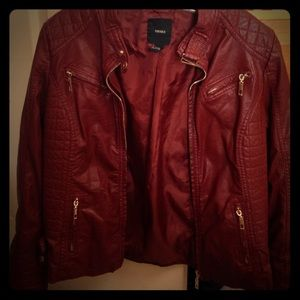 Jackets & Blazers - Maroon Leather Jacket