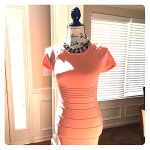 Peach Bandage Dress
