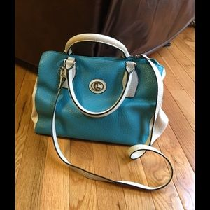 Handbags - Cute turquoise and white purse