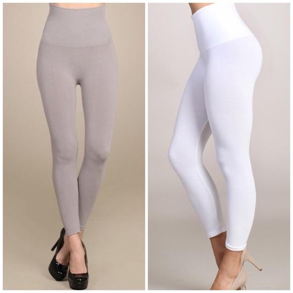 distinctive design wide selection of designs delicate colors Top High Quality Tummy Control White Capri Legging Boutique