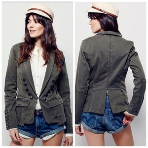 Free People Jackets & Blazers - Free People Black Structured Washed Blazer