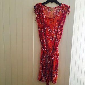 Michael Michael Kors Orange,Hot Pink & White dress