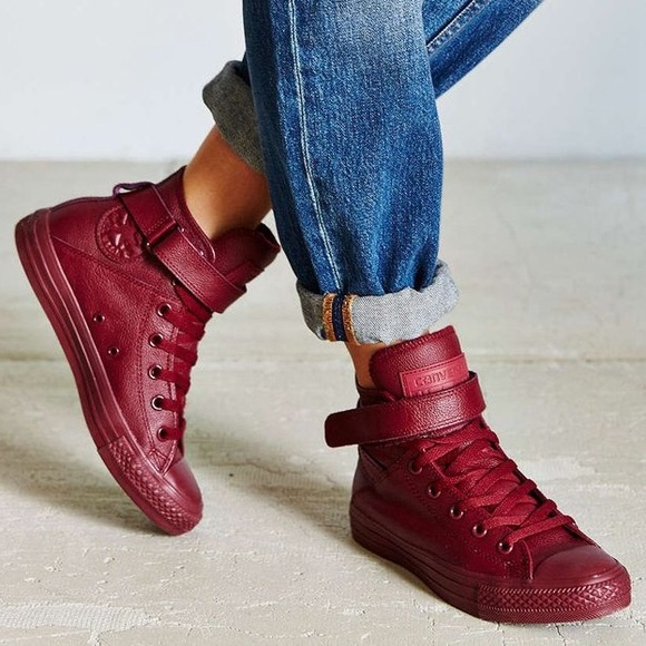 Converse Shoes - Chuck Taylor Converse Brea Leather Maroon 5 5c929cd94