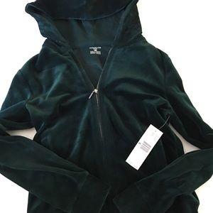 € NWT Green Velour Track Jacket