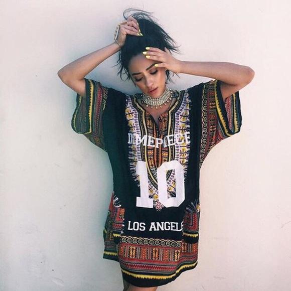 8408536b5cc Dimepiece Tops   Dashiki Los Angeles Shirt Dress   Poshmark