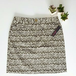 Willi Smith Dresses & Skirts - Ethnic print stretch cotton skirt by Willi Smith