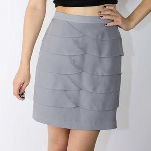Gianni Bini Dresses & Skirts - Gianni Bini Gray Ruffled Skirt