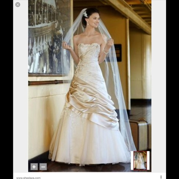 Champagne Colored Wedding Ball Gown | Poshmark