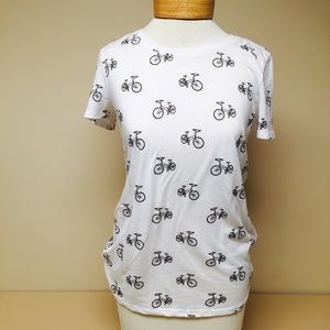 Forever 21 Tops - Bicycle print shirt