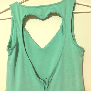 Teal Heart Back Dress