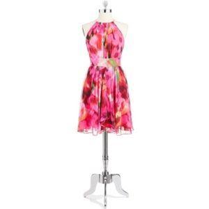 Eliza J Sz 8 necklace fit and flare dress