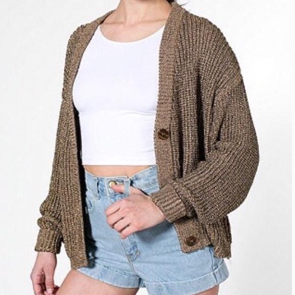 53% off American Apparel Sweaters - American Apparel Metallic ...