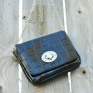 Handbags - Faux Leather Crossbody Bag