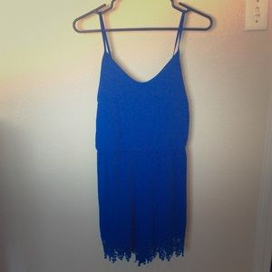 Pants - NWT Blue Romper with Hand Woven Design