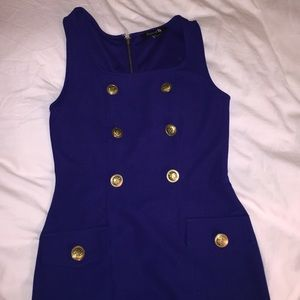 Dresses & Skirts - Navy and gold detail sleeveless dress