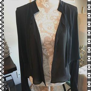 Robert Rodriguez Jackets & Blazers - 🕶SALE🕶Black layered wrap open cardigan