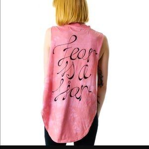 Somedays Lovin Tops - Somedays Lovin Fear is a liar muscle tank NWT