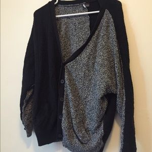 Urban Outfitters Grey & Black Split Cardigan