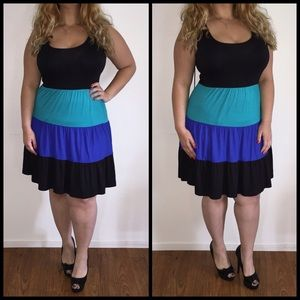 Dresses & Skirts - Blue & Black Skater Dress*