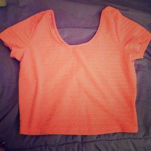 Tops - Bright Orange Crop Top