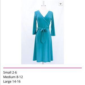 Teal Wrap Dress