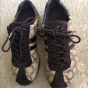 Coach Women's Brown Logo Shoes