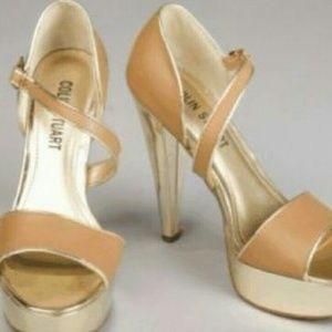 Colin Stuart Shoes - Colin Stuart Gold Brown High Heel Stilettos 7.5