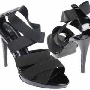 Colin Stuart Shoes - Colin Stuart Black Stretch Straps High Heels 7.5