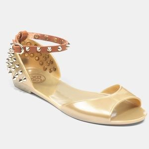 BCBGeneration Shoes - BCBGeneration Gold Oria Jelly Flats Sz 7