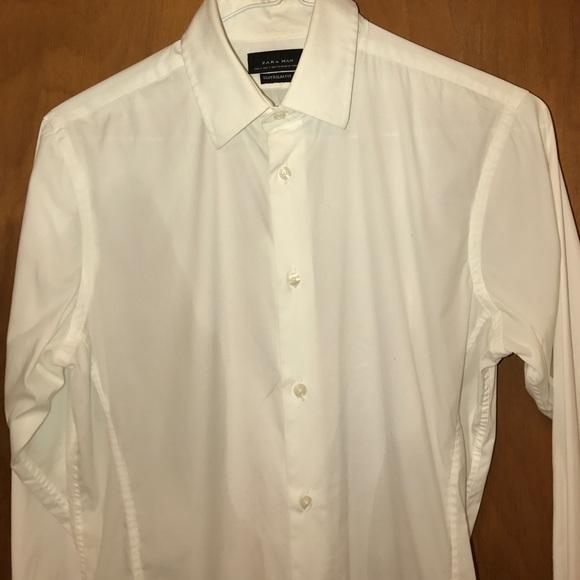 7a8e86dca5 Zara Man Shirts   Super Slim Fit White Shirt Sz S   Poshmark