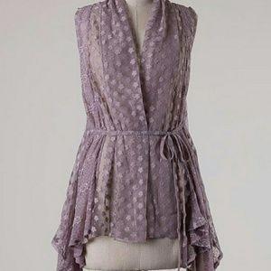 Jackets & Blazers - Lavender lace vest