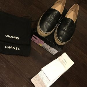 Chanel Espandrilles in all black leather